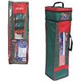 """Wrapping Paper Storage Bag- Heavy Duty Christmas Gift Wrap Bag with Handles (36"""" x 10""""x10"""")"""