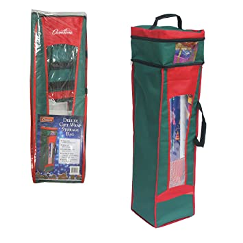 Amazon.com: Wrapping Paper Storage Bag- Heavy Duty Christmas Gift ...