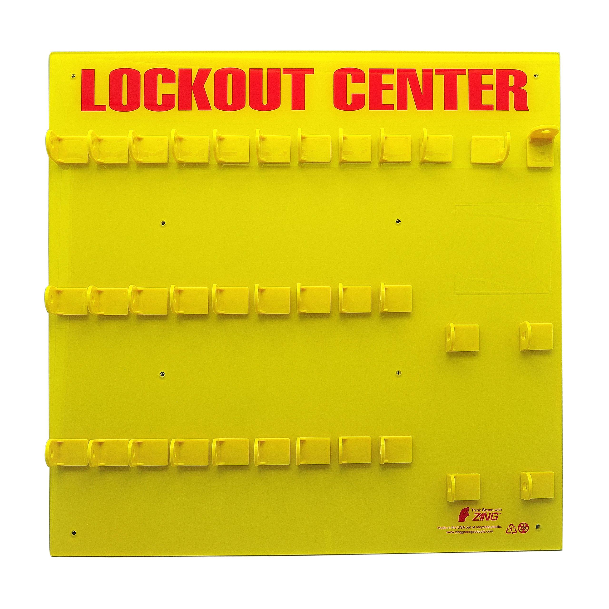 ZING 7116E RecycLockout Lockout Station, 28 Padlock, Unstocked