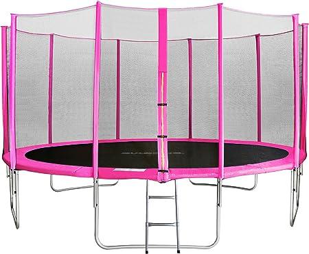 SixBros. SixJump 4,30 M Trampolín Cama elástica de jardín Fucsia - Escalera - Red de Seguridad - Lluvia Cobertura TP430/1767: Amazon.es: Deportes y aire libre