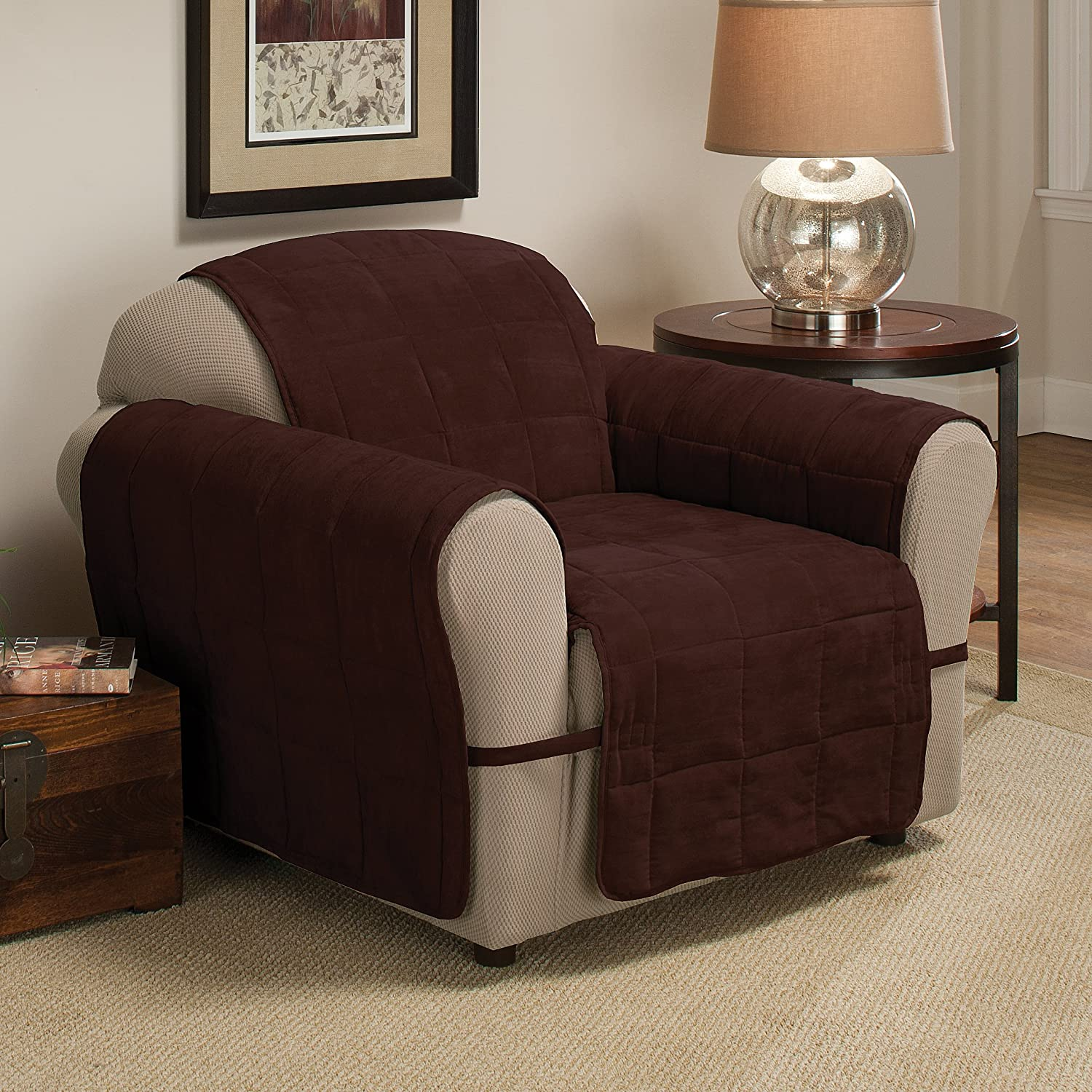 Innovative Textile Solutions Ultimate Furniture Protector Chair, Chocolate