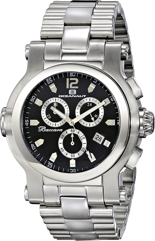 Oceanaut Men s OC0821 Baccara XL Analog Display Quartz Silver Watch