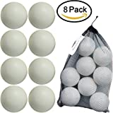 Kidwerkz T-ball Balls, 3.5-inch, Jumbo Size (8 pack) with Durable Mesh Ball Bag, Great For T-Ball, Softball and Baseball Practice, Ages 18 Months and Up