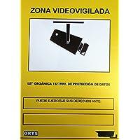 Cartel PVC 40x30 A3 zona videovigilancia (cámara video)