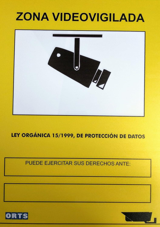 Cartel PVC 40x30 A3 zona videovigilancia (cámara video ...