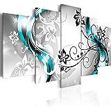 murando Bilder 200x100 cm - Leinwandbilder - Fertig Aufgespannt - Vlies Leinwand - 5 Teilig - Wandbilder XXL - Kunstdrucke - Wandbild - Blumen Abstrakt 020110-150