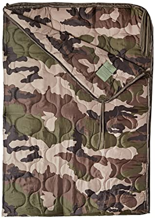 Poncho Liner Travel Sleeping Bag Quilted Padded Mat Ripstop French Army CCE Camo: Amazon.es: Deportes y aire libre