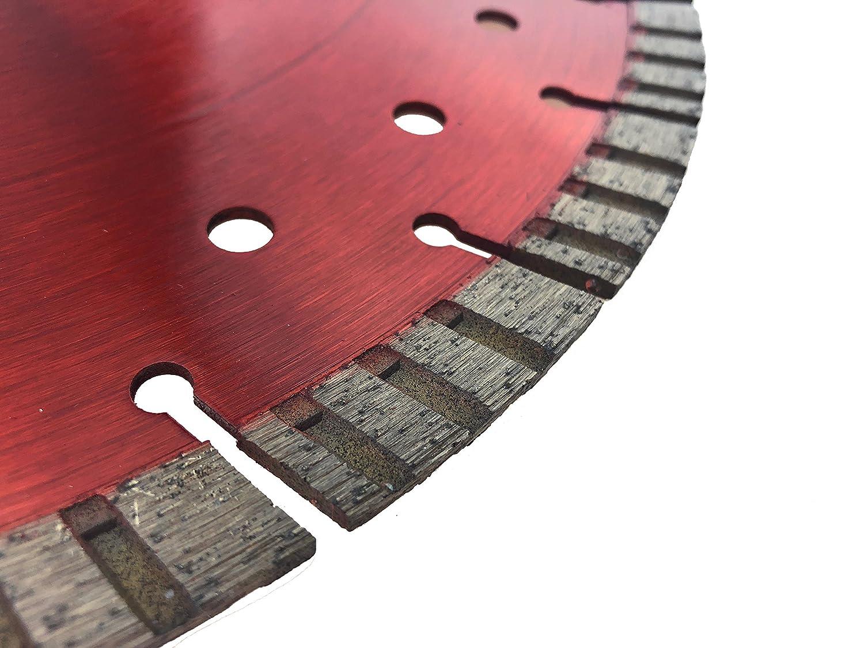 PRODIAMANT Premium Disque /à tron/çonner diamant/é Beton Turbo 300 mm x 25,4 mm Disque /à tron/çonner diamant/é 300 mm CONCAVE-TURBO b/éton