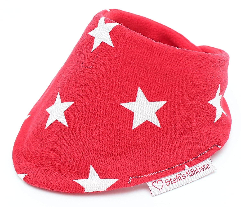 Verstellbares Dreieckstuch rote Sterne mit wä rmenden Fleece 302