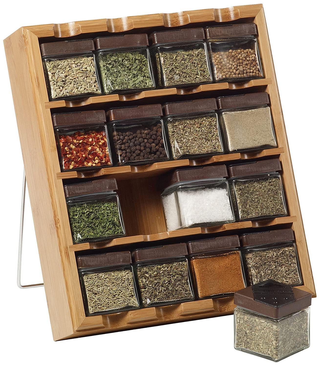 Kitchen Spice Rack Amazoncom Kamenstein Bamboo Inspirations 16 Cube Spice Rack With
