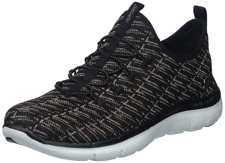 Skechers Women's Flex Appeal 2.0 Insight Sneaker B0721KRNHY 9.5 B(M) US|Black Rose Gold