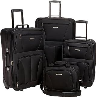 349262198 Rockland juego de equipaje de 4 piezas con ruedas para patines, Negro, Una  talla