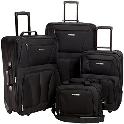 Rockland Journey Softside Upright Luggage Set