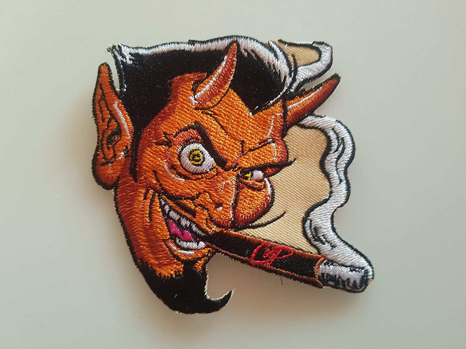 10/ x 10/ cm Complete # 117/ Mr Coop Size Approx Embroidered Patch Aplication Eccuson Hot Rod.