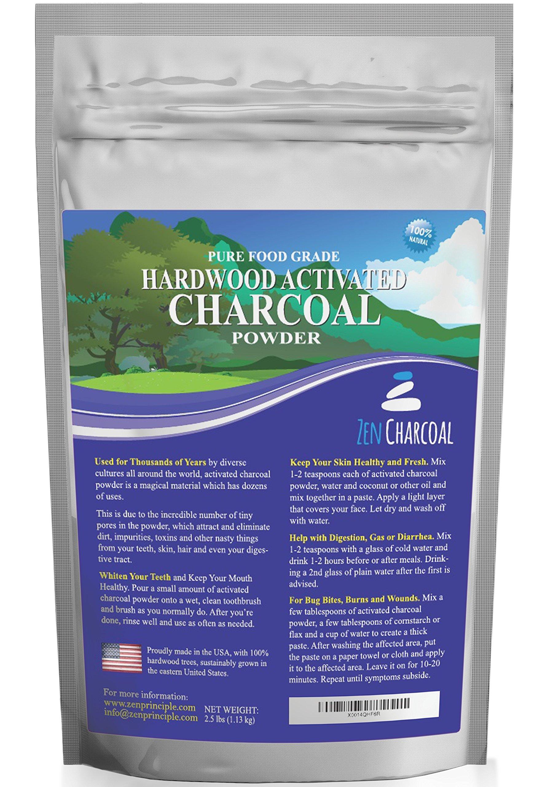 Zen Charcoal Activated Charcoal Powder (40 Ounces)