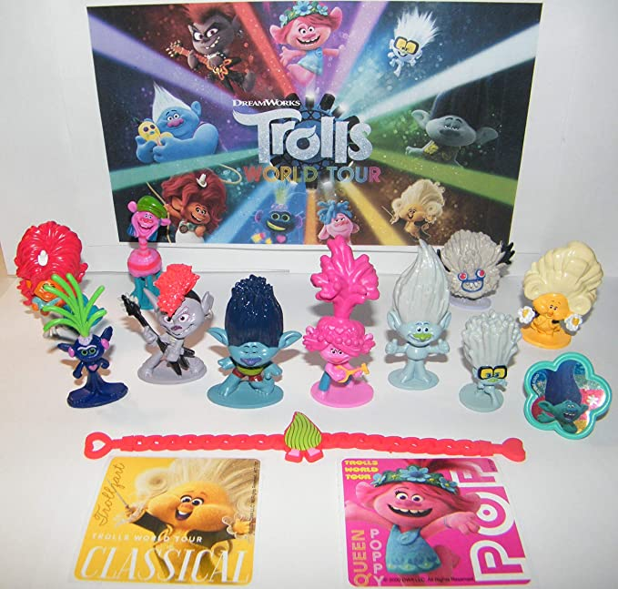 1 Trolls World Tour Poppy or Branch doll 10 inch figure figurine Hasbro toy