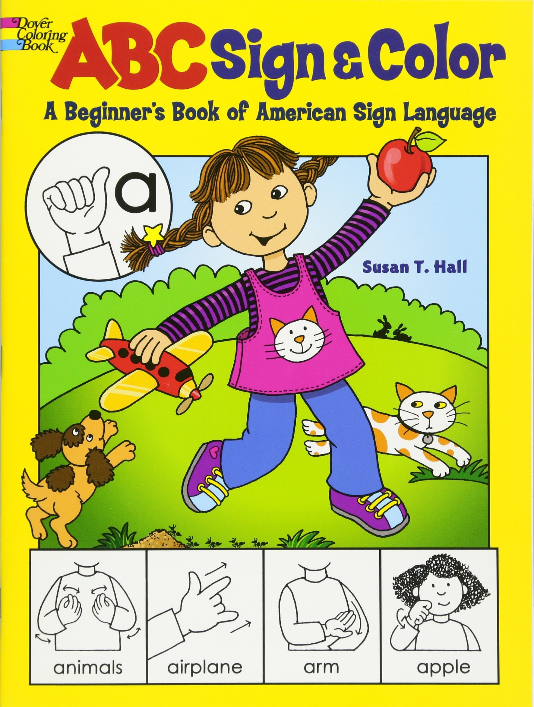 ABC Sign/Color:A Beginner\'s Book of American Sign Language,Dover ...