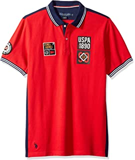 U.S. Polo Assn. Mens Short Sleeve Classic Fit Fancy Pique Polo Shirt