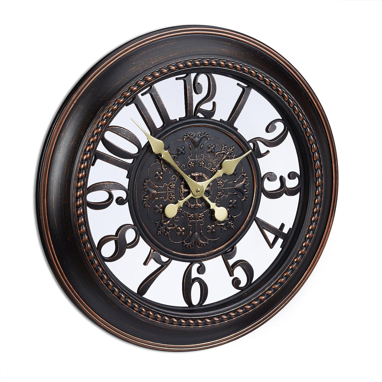Relaxdays Wanduhr Design Reloj De Pared Vintage En Formato Xl  ~ Relojes Grandes De Pared Vintage