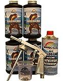 Speedokote T-Rex Black Bed Liner, 2K Urethane, SMR-1000-K4 Truck Bedliner w/Free Spray Gun