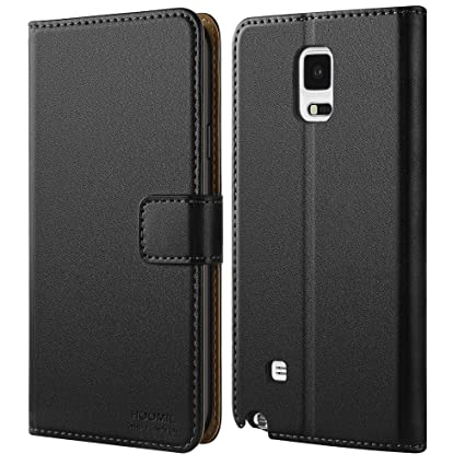 quality design 422f8 b18d4 HOOMIL Compatible with Samsung Galaxy Note 4 Case, Premium Leather Flip  Wallet Phone Case for Samsung Galaxy Note 4 Cover (Black)
