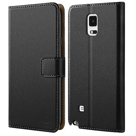 HOOMIL Samsung Galaxy Note 4 Hülle, Leder Flip Case Handyhülle für Samsung Galaxy Note 4 Tasche Brieftasche Schutzhülle - Sch