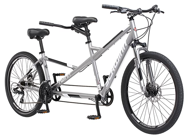 9284f6555dc Schwinn Twinn Tandem Bicycle, Featuring Low Step-Through and Lightweight  Aluminum Frame with Mechanical