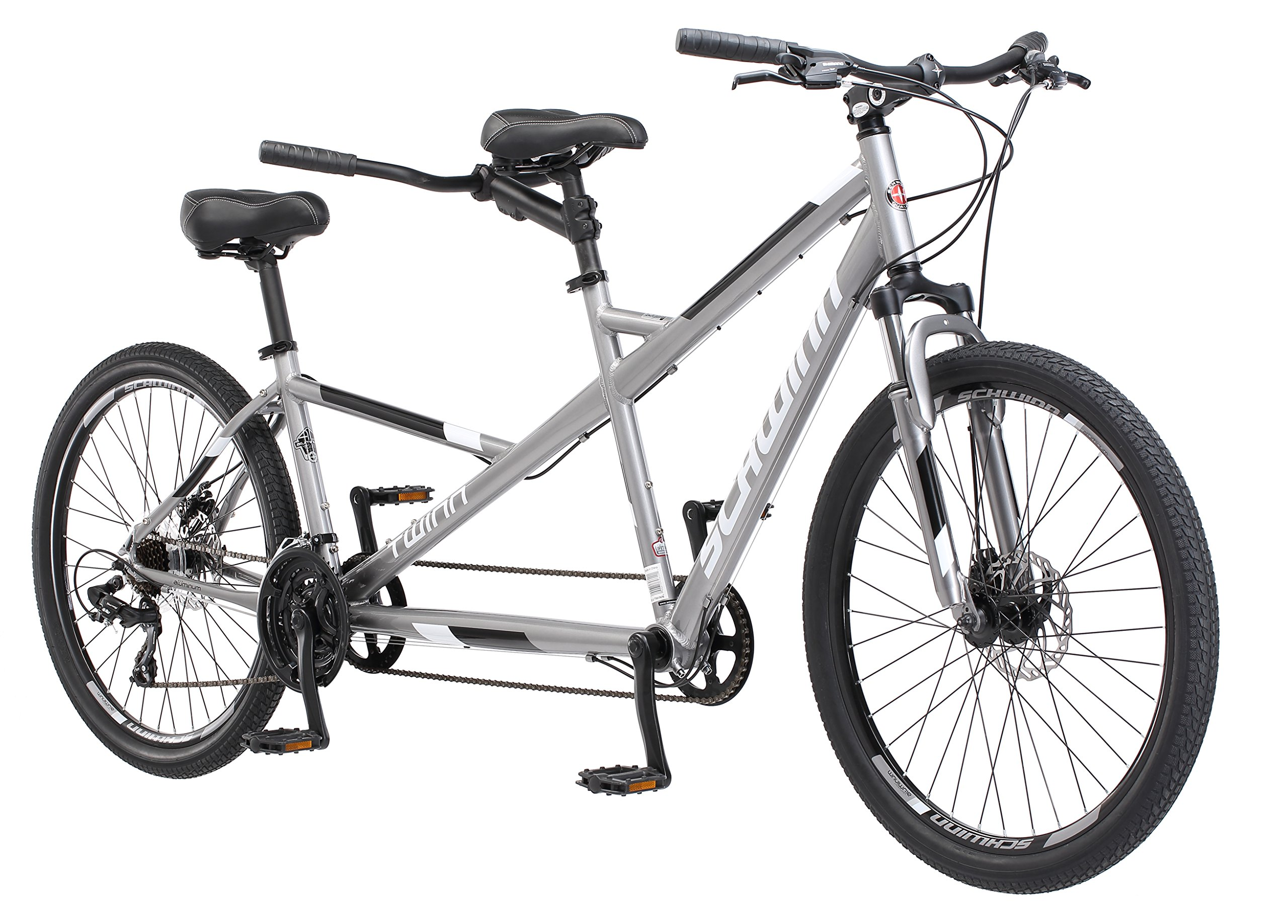 Schwinn Twinn Tandem 20''/ one size Wheel Bicycle, Grey One Frame Size