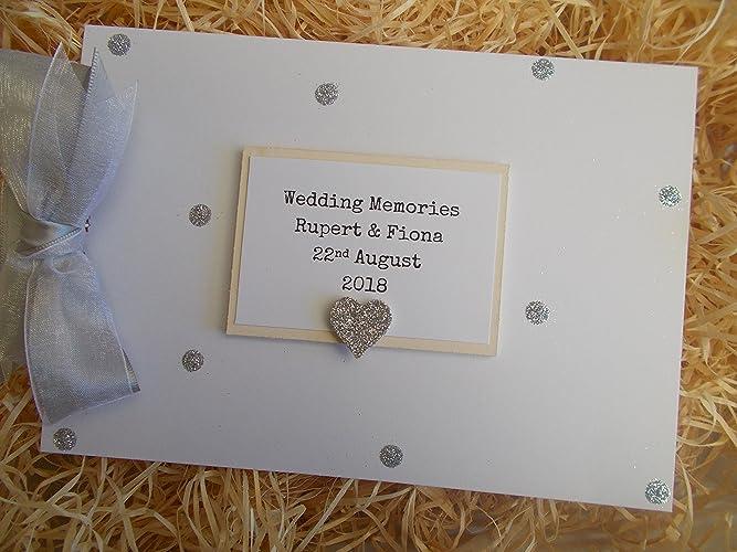 Personalised Wedding Memories Photo Album Scrapbook//Memory Gift With Box