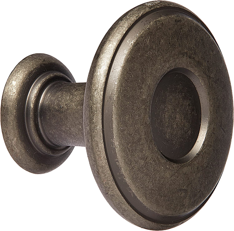 1-1//4-Inch Diameter BP27026-G10 Satin Nickel Amerock BP27026G10 Porter Knob