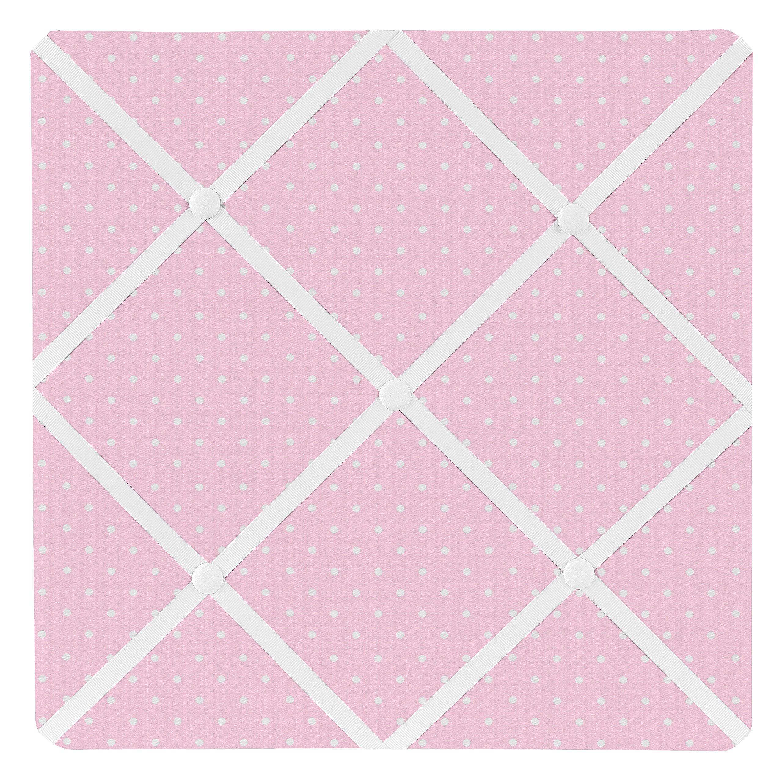 Pink Polka Dot Fabric Memory/Memo Photo Bulletin Board for Mod Dots Collection