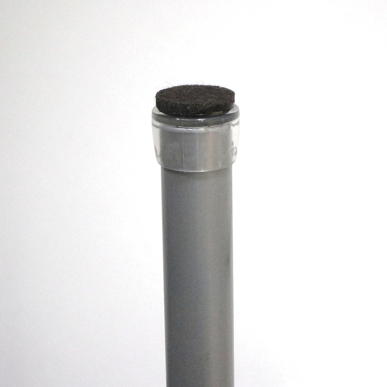 16 piezzas -Tap/ón envolvente para tubo de diametro 22 mm con suela de fieltro para la pata de la silla Ajile/® protecci/ón contra ruidos y ara/ñazos EVF922-FBA