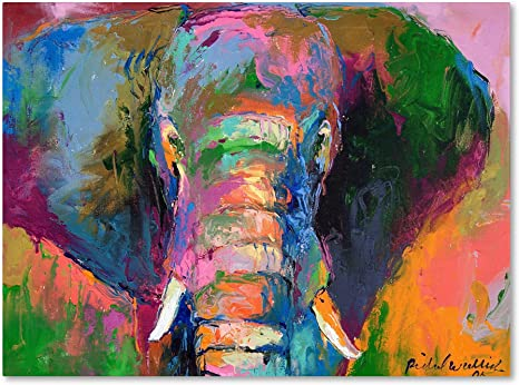 Amazon Com Elephant 2 By Richard Wallich 35x47 Inch Canvas Wall Art Posters Prints