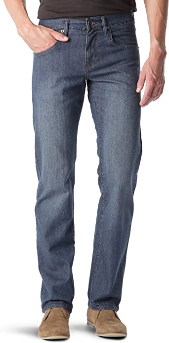 pantalon jean lewis large du bas