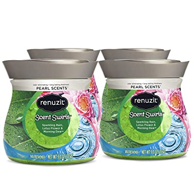 Renuzit Pearl Scents Air Freshener, Sparkling Rain, Lotus Flower & Morning Dew, 9 Ounces (4 Count): Health & Personal Care