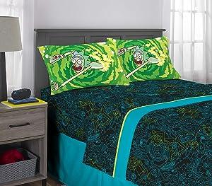 Franco Kids Bedding Super Soft Sheet Set, 4 Piece Full Size, Rick and Morty