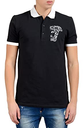 Polo Shirt for Men On Sale, Versace Collection, White, Cotton, 2017, L Versace