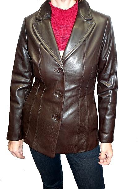 Amazon.com: Avanti Leather Blazer: Clothing