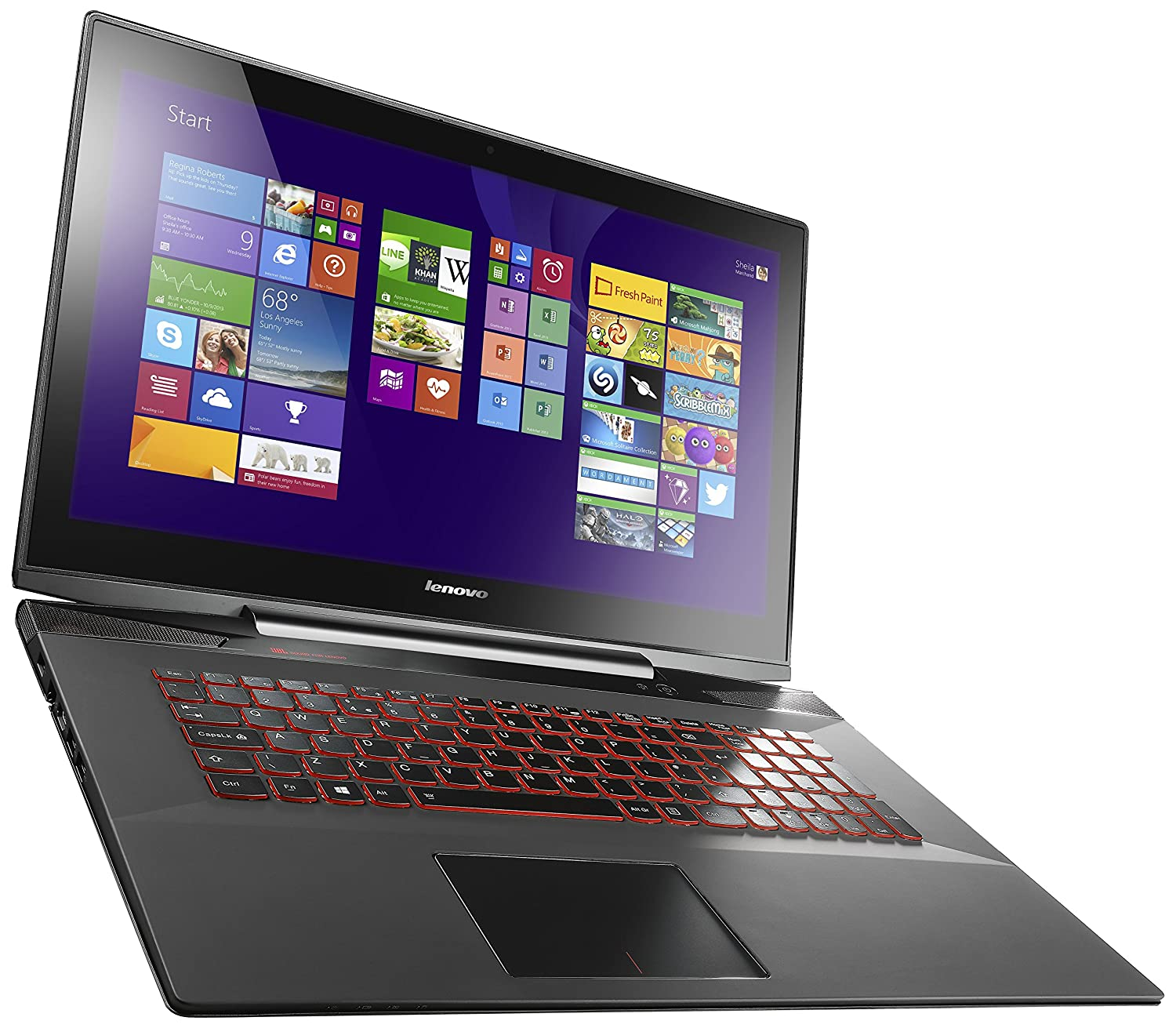 Amazon Lenovo Y70 17 3 Inch Touchscreen Gaming Laptop 80DU0034US Black puters & Accessories