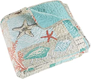 Bedford Home 3 piece Quilt Set Nautical Star Fish - King