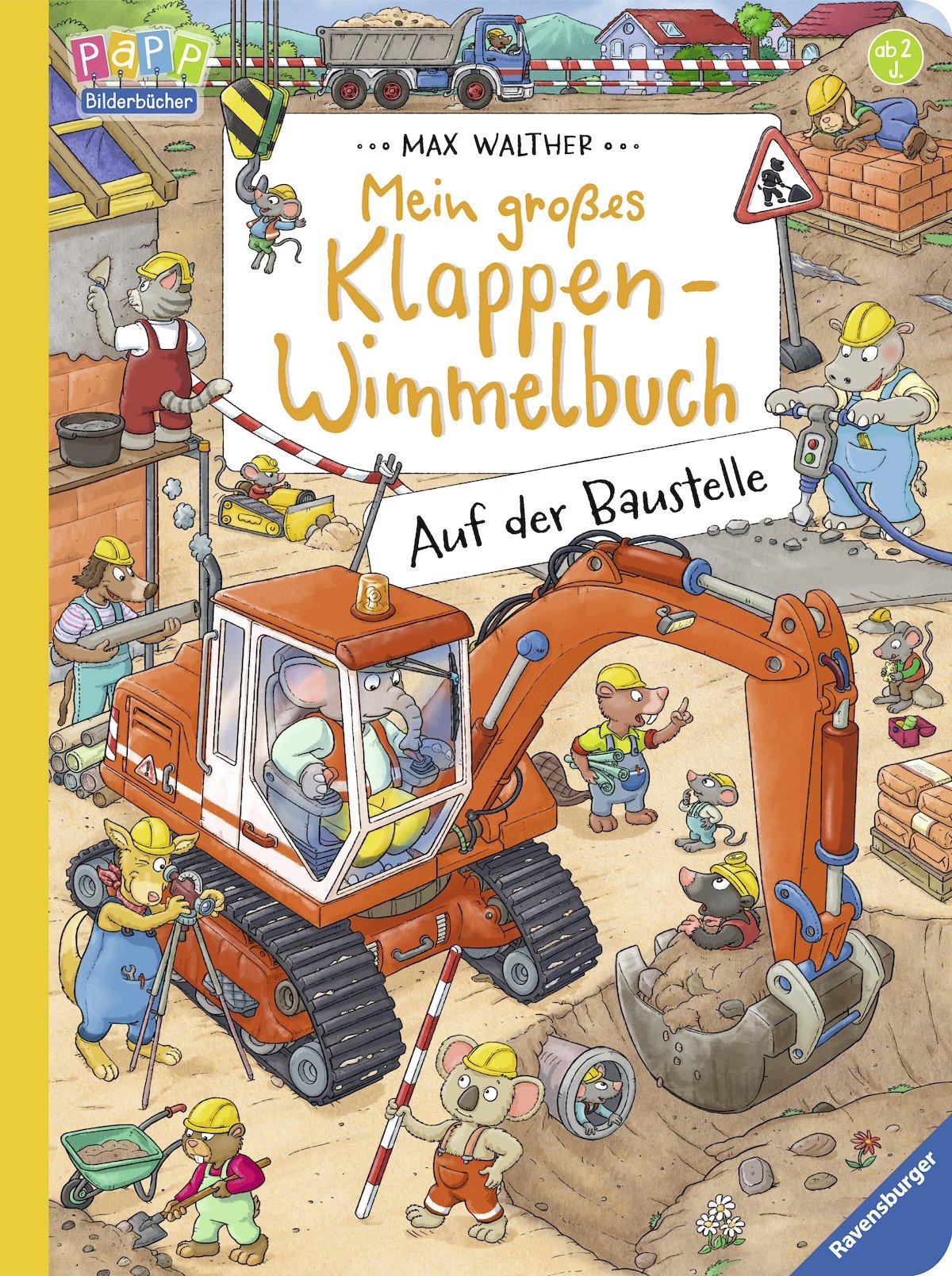 Baustelle haus comic  Mein großes Klappen-Wimmelbuch: Auf der Baustelle: Amazon.de: Max ...