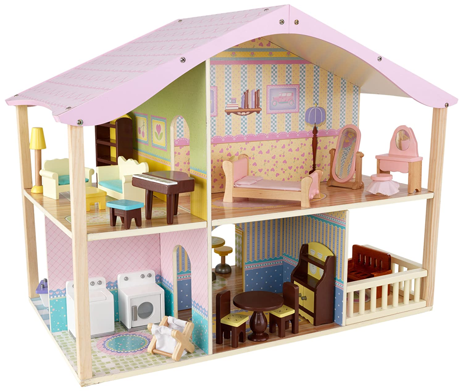 KidKraft Pastel Swivel Dollhouse For Toddlers