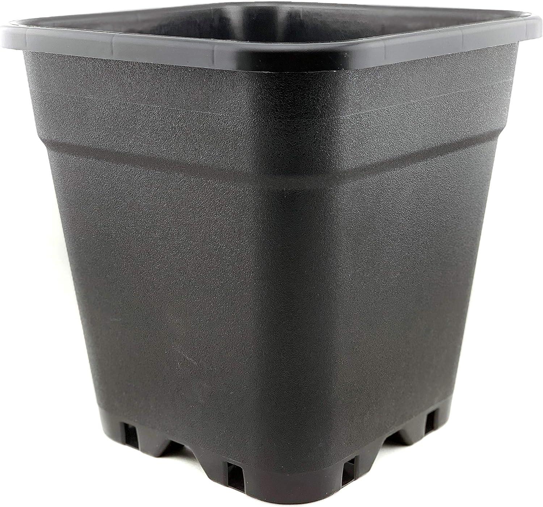 Maceta robusta de 14 litros, cuadrada, 28 x 28 x 28, 5 cm, 14 litros, plástico de alta calidad, ideal para interior y exterior, flores, macetas grandes para tomates, 14 L: Amazon.es: Jardín