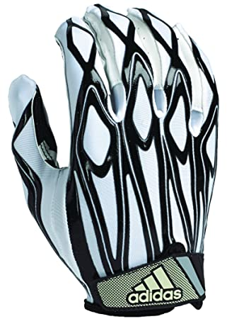 Adidas Youth Filthy Quick Football Gloves White Black X Large