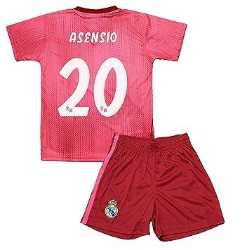 ff3761231c096 Real Madrid Kit Tercera Equipación Infantil Marcos Asensio Producto Oficial  Licenciado Temporada 2018-2019  Amazon.es  Deportes y aire libre