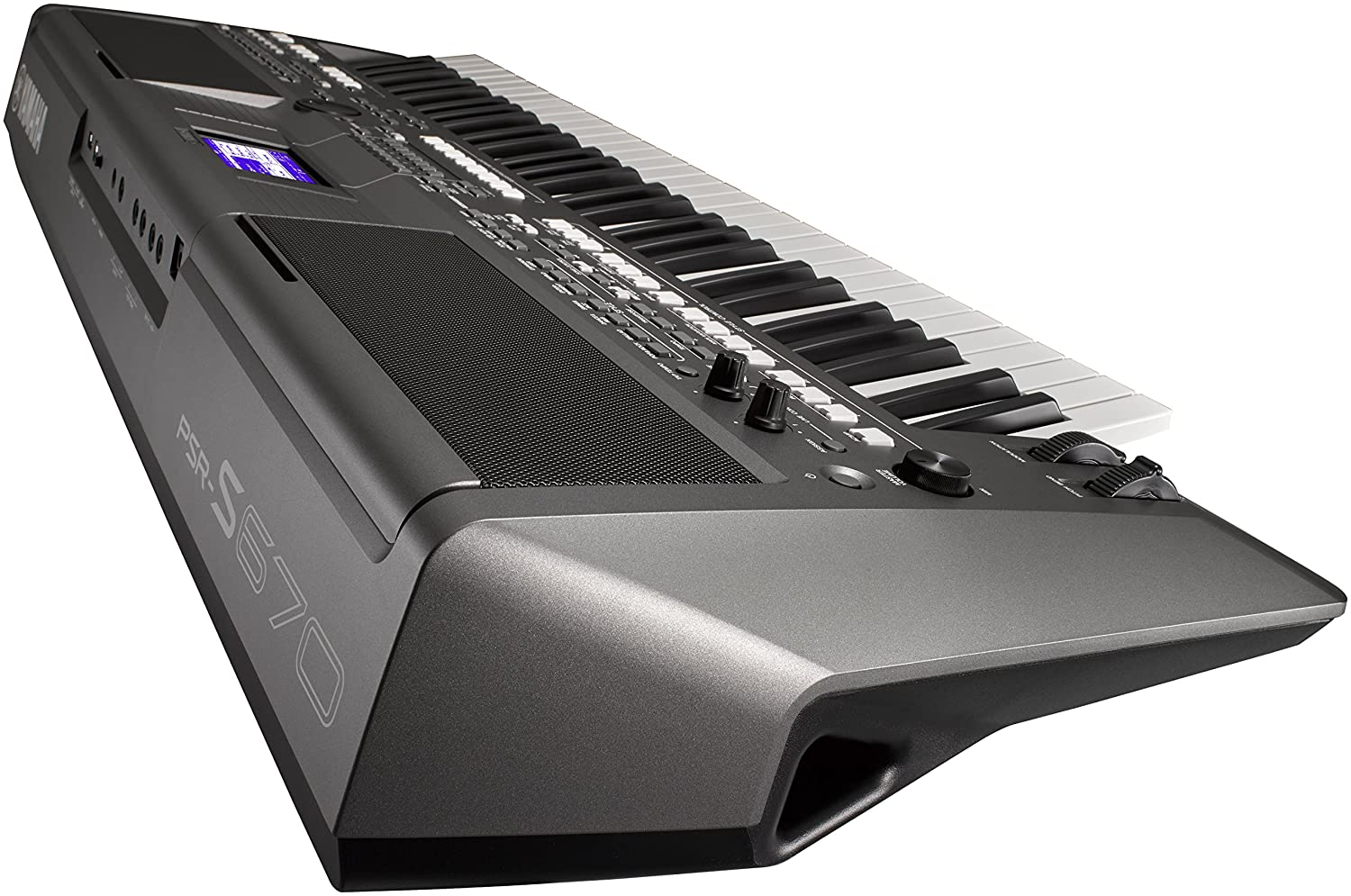 Amazon.com: Yamaha PSR-S670 61-Key Arranger Workstation Keyboard with Onboard Stereo Speakers and MegaVoice Articulation Technology with Keyboard Stand, ...