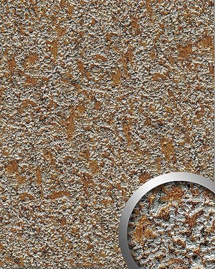Panel decorativo WallFace 14805 LAVA Autoadhesivo de diseño piedra y efecto metal color gris roca y