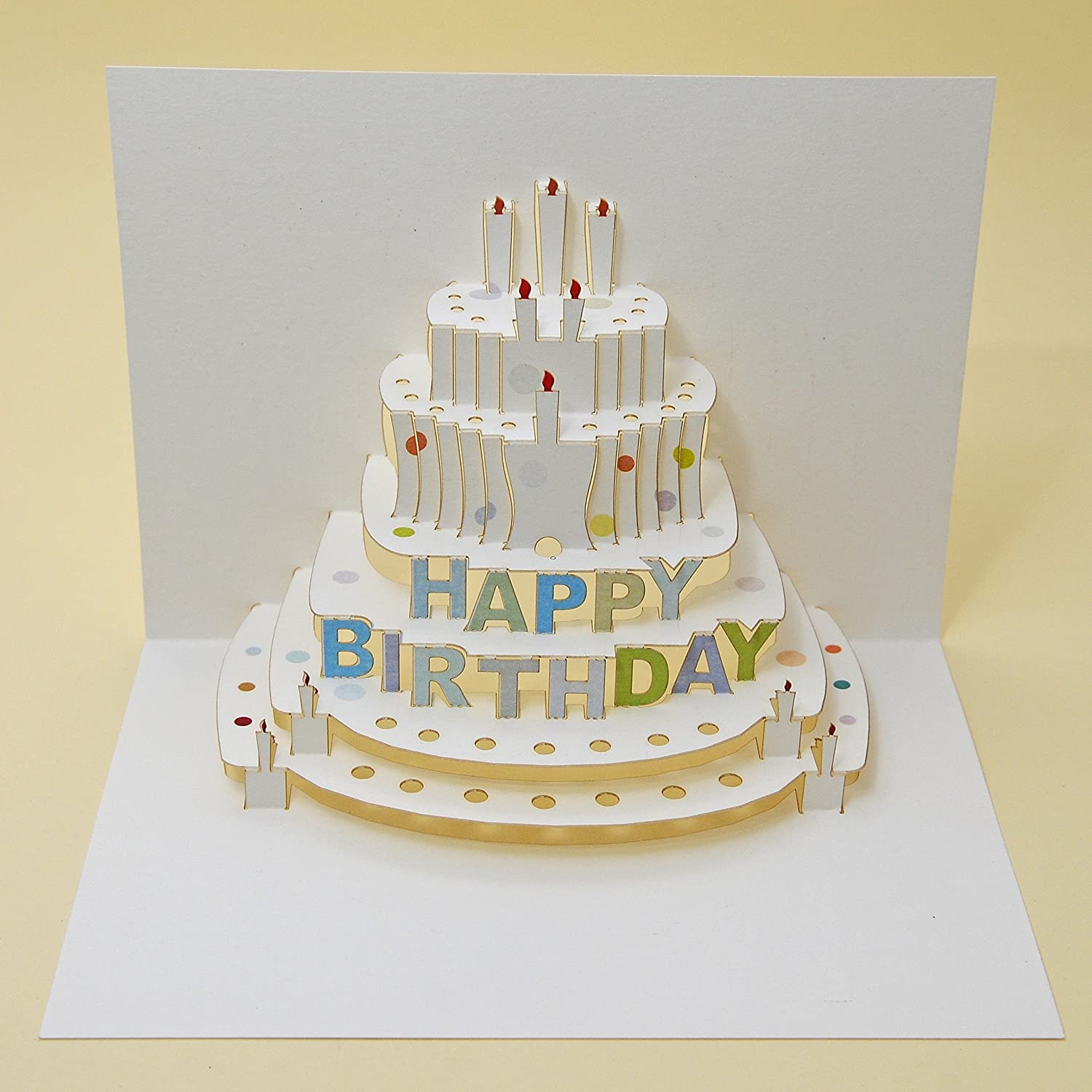 Prime Happy Birthday Cake Pop Up Card Amazon Co Uk Kitchen Home Personalised Birthday Cards Paralily Jamesorg