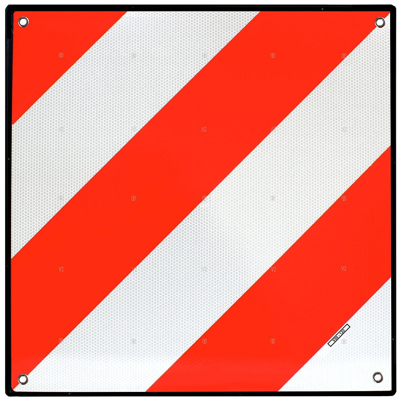 voiture remorque Homologu/é V20 Code de la Route Espagne Magma Panneau de Signalisation pour porte v/élo ou moto Signal de S/écurit/é R/éflecteur Catadioptre camion Rouge et Blanc caravane