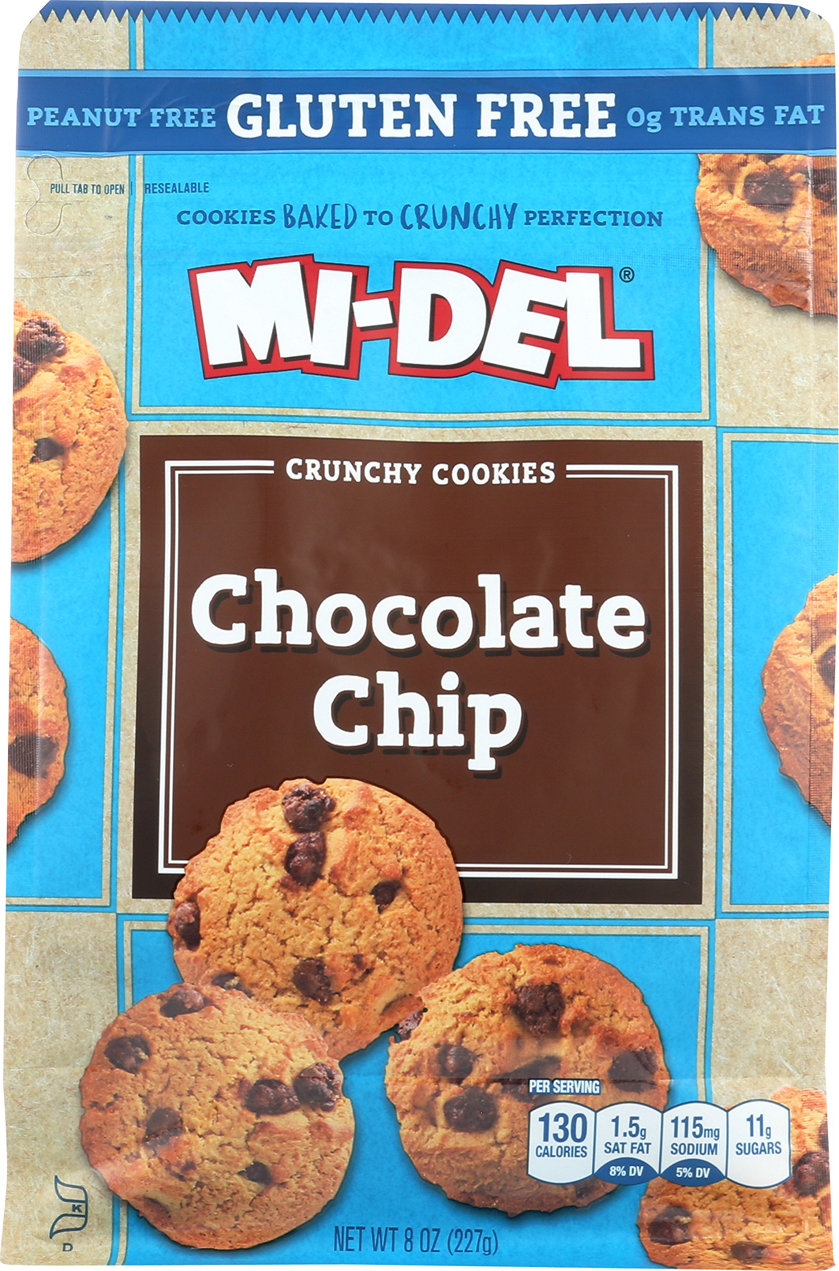 Mi-Del Gluten-Free Cookies, Chocolate Chip, 8 Ounce